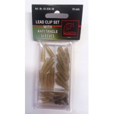 Behr Zestaw Karpiowy Lead Clip Set With Anti Tangle Sleeves