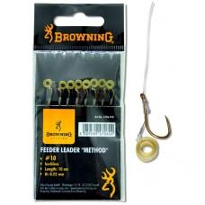 Browning haczyki z przyponem Feeder Method z gumką do peletu 47060