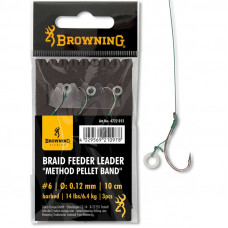 Browning Przypony Braid Feeder Leader Method Pellet Band Nr4