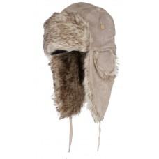 Eiger Czapka Zimowa Uszatka Suede Fur Hat Pale Khaki L