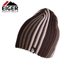 Eiger Czapka Zimowa Striped Knitted Hat Brown