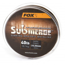 Fox plecionka Submerge Sinking Braided Mainline - Dark Camo 300m 55lb