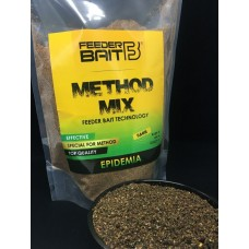 Feeder Bait Zanęta Method Mix Epidemia Dark Ciemna 800g