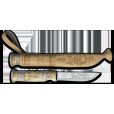 Marttiini Nóż Lapp knife z rogiem 11cm