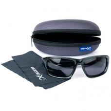 Matrix Okulary Glasses Casual Trans Black Grey POLARYZACYJNE