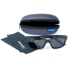 Matrix Okulary Glasses Wraps Trans Black Grey POLARYZACYJNE
