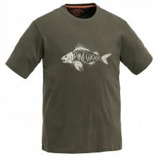 Pinewood Koszulka T-shirt Fish Zielona 5416
