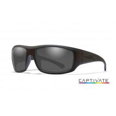 Wiley X - okulary Omega Black Frame Captivate Polarized Smoke Grey