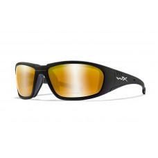 Wiley X Okulary Polaryzacyjne BOSS Amber Gold Mirror Matte Black Frame CCBOS04