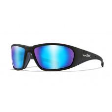 Wiley X Okulary Polaryzacyjne BOSS Captivate Blue Mirror Smoke Grey Matte Black Frame CCBOS09