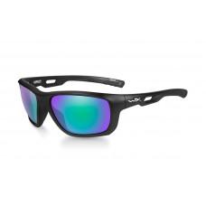 Okulary polaryzacyjne Wiley X - Aspect Emerald Mirror Matte Black