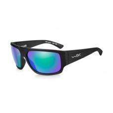 Okulary polaryzacyjne Wiley X Vallus Emerald Mirror Matte Black