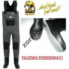Behr spodniobuty neoprenowe 5 mm z filcem