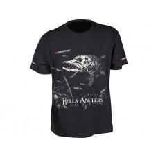 Dragon Koszulka T-shirt Hells Anglers Szczupak Czarna
