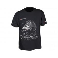 Dragon Koszulka T-shirt Hells Anglers Sandacz Czarna TS-26