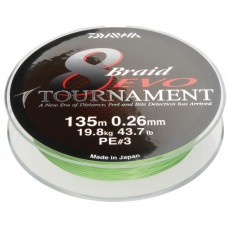 Daiwa plecionka tournament 8 braid evo chartreuse 135m