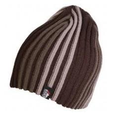 Eiger czapka Striped brązowa